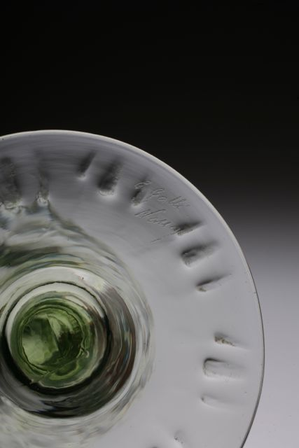 Emile Galle Wine Glass エミールガレ・緑_c0108595_15232375.jpg