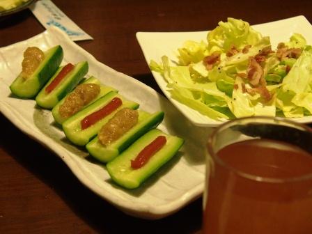 鯛とトマトのネギみょうがサラダ_d0104926_644418.jpg