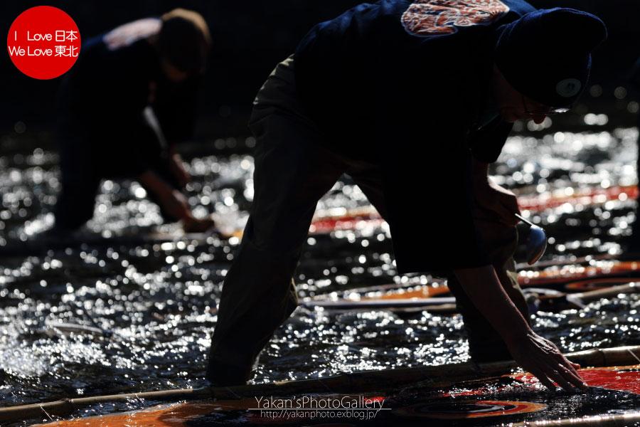 郡上八幡写真撮影記02 岐阜県重要無形文化財「郡上本染」 鯉のぼり寒ざらし編_b0157849_001550.jpg