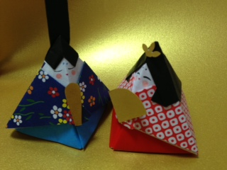 折り方 お雛様 折り方 : 折り紙で飾る、おひな様