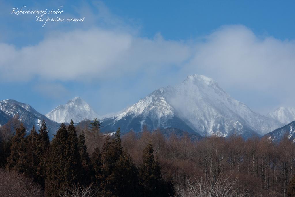 冬の八ヶ岳と白樺林_c0137403_17361244.jpg