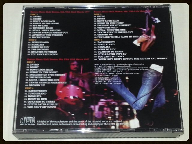 BRUCE SPRINGSTEEN & THE E STREET BAND / BOSTON 1977 LEGENDS FROM THE MUSIC HALL_b0042308_21312043.jpg