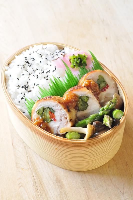 鶏の野菜巻き弁当_b0171098_814033.jpg