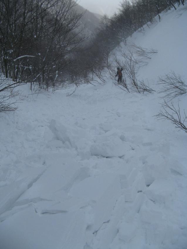 北蔵王 茶畑尾根から水無沢滑降 ~ 2013年2月9日_f0170180_22543887.jpg
