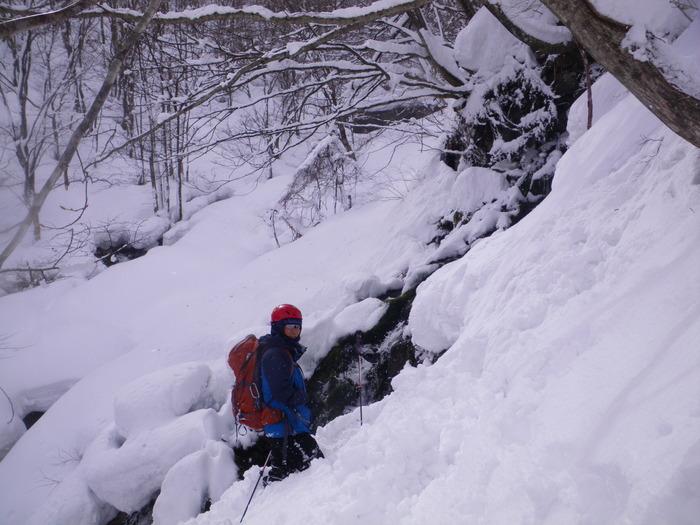 北蔵王 茶畑尾根から水無沢滑降 ~ 2013年2月9日_f0170180_2258135.jpg