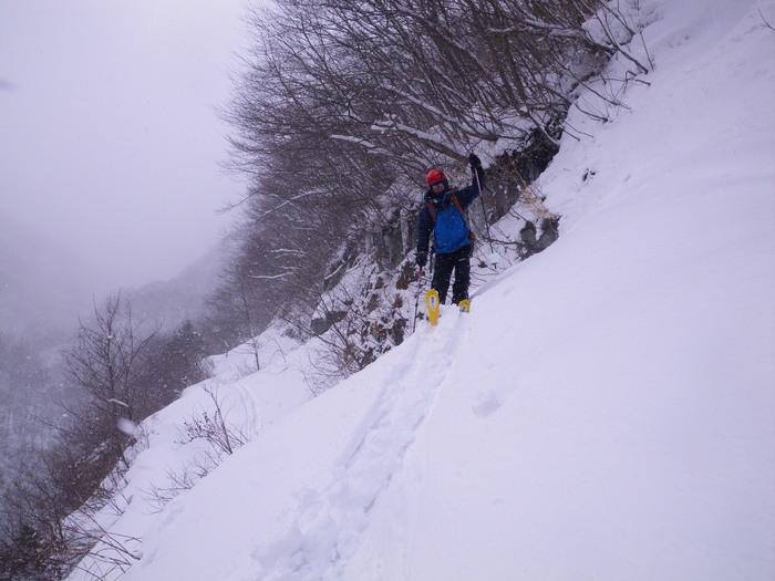 北蔵王 茶畑尾根から水無沢滑降 ~ 2013年2月9日_f0170180_2259305.jpg