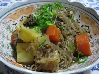 肉じゃが♪と豆腐ハンバ-グ♪_f0116812_15434420.jpg
