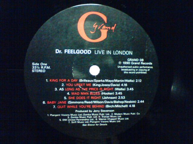 Live In London / Dr.Feelgood_c0104445_2236340.jpg