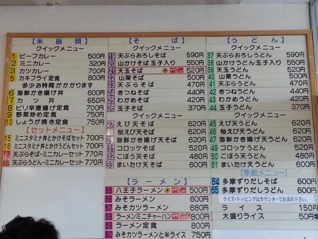 ぷらっとパークの八王子ラーメン¥500ほか@中央道石川PA(下り)_b0042308_20392158.jpg