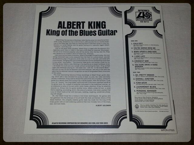 ALBERT KING / KING OF THE BLUES GUITAR_b0042308_22121083.jpg