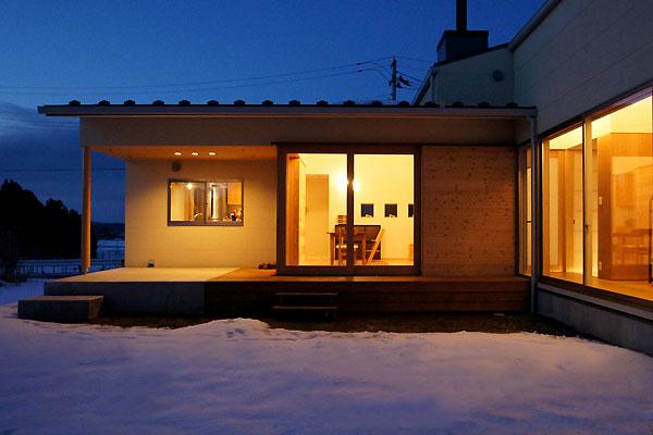 雪景色の竣工写真 〜夜室外観編_f0098628_552355.jpg