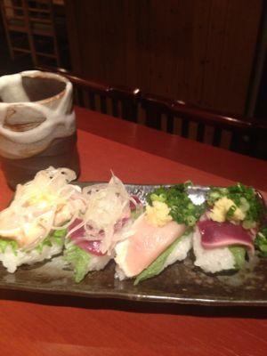 焼き鳥でお寿司!_d0208943_14565420.jpg