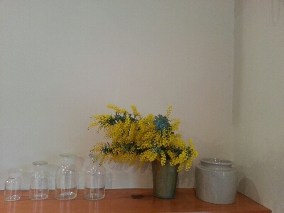 休日には花を飾って_c0172049_1675329.jpg