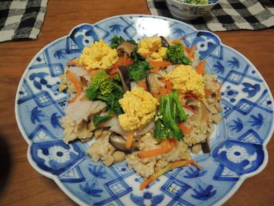 玄米ちらし寿司を作りました_b0252363_16441336.jpg
