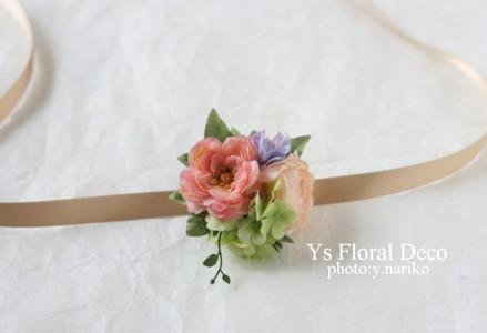 春色のブーケとフラワーアクセサリー ルシェルブラン表参道さんのおふたりに_b0113510_0303056.jpg