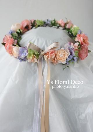 春色のブーケとフラワーアクセサリー ルシェルブラン表参道さんのおふたりに_b0113510_0304560.jpg