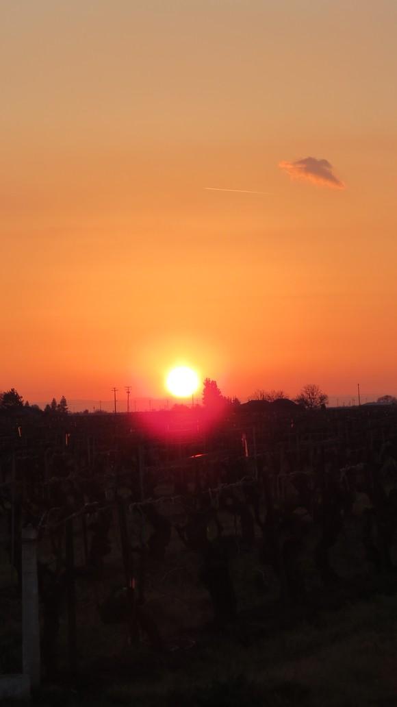 130221 ルート99号線、地平線に沈む真っ赤な太陽_d0288367_11123935.jpg