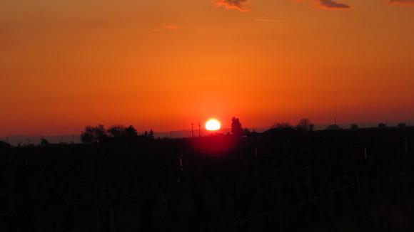 130221 ルート99号線、地平線に沈む真っ赤な太陽_d0288367_1116254.jpg