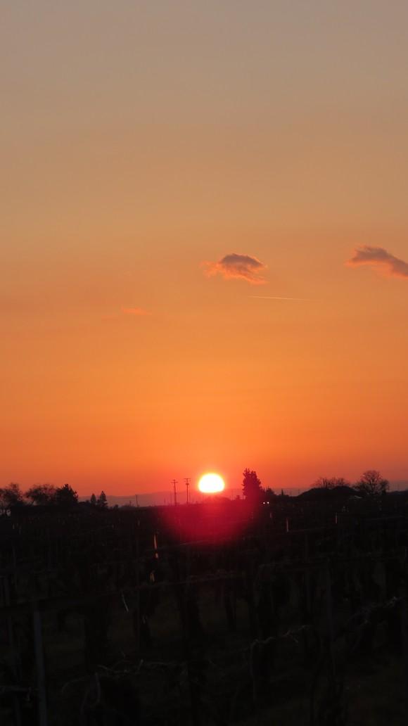 130221 ルート99号線、地平線に沈む真っ赤な太陽_d0288367_11165990.jpg