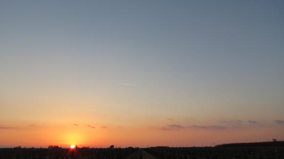 130221 ルート99号線、地平線に沈む真っ赤な太陽_d0288367_11171543.jpg