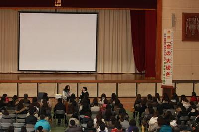 冨永愛アンバサダーの母校にて、いのちの講演_c0212972_16191687.jpg