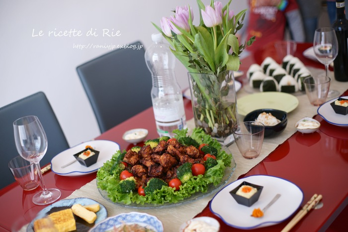 日本食パーティー♪ Festa giapponese_b0246303_23585474.jpg
