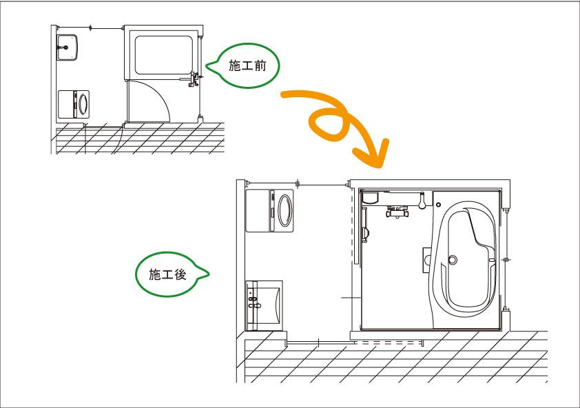 洗面脱衣室・浴室のリフォームがスタートしました!_b0211845_1545359.jpg