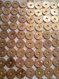五円玉をきれいに2/5yen coin_d0090888_2234190.jpg