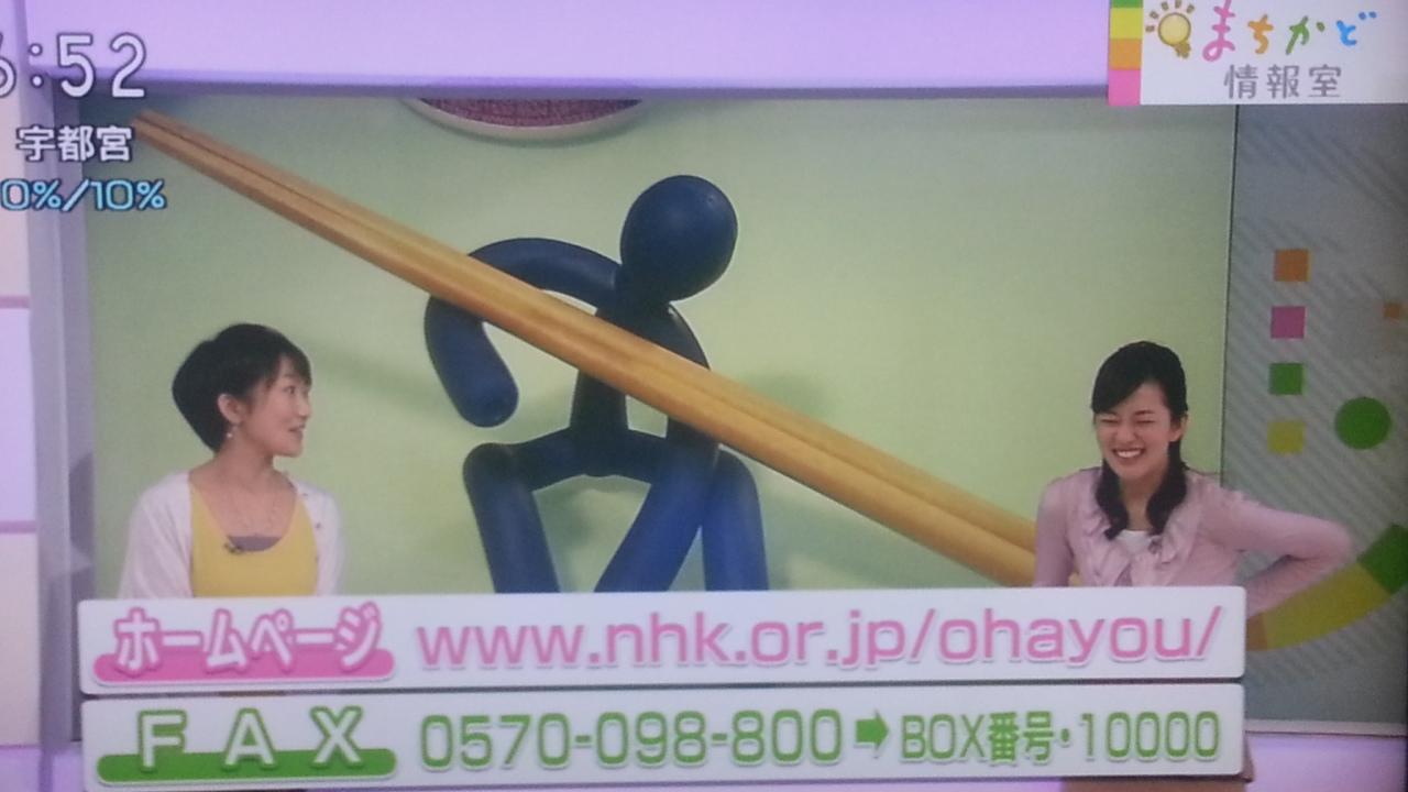 突っ込みの鈴木アナ? NHKおはよう日本 まちかど情報室_b0042308_113116.jpg