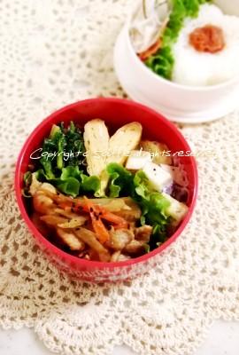 豚肉とごぼうの炒め物弁当_c0270834_16101285.jpg