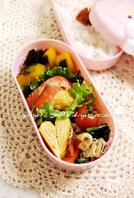 鮭のからしマヨ焼き弁当_c0270834_17101490.jpg