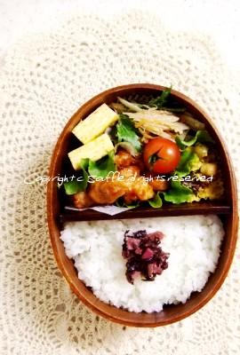 鶏肉のバーベキューソース弁当_c0270834_17101530.jpg
