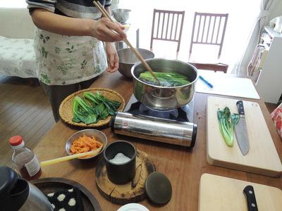 ちらし寿司、大根ステーキ、青菜胡麻和え を作りました_b0252363_159488.jpg