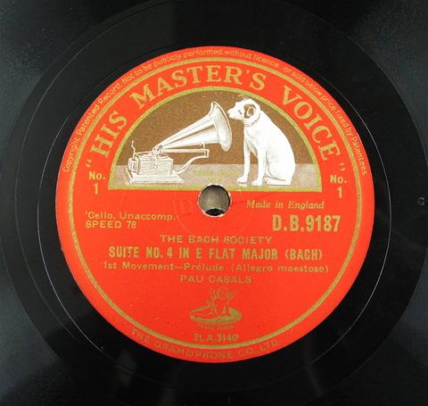 カザルスのバッハ無伴奏チェロ組曲4番5番_a0047010_131078.jpg