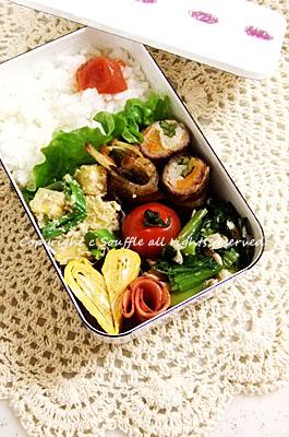 野菜の豚肉巻き弁当_c0270834_1010231.jpg