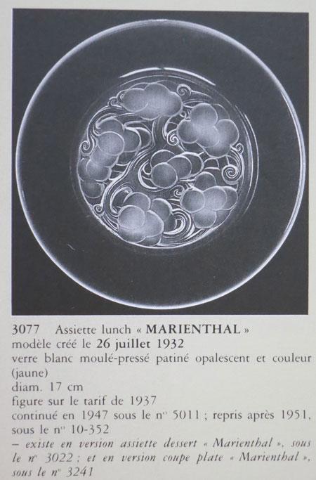 "Rene Lalique \""Marienthal\"" Plate_c0108595_2135040.jpg"