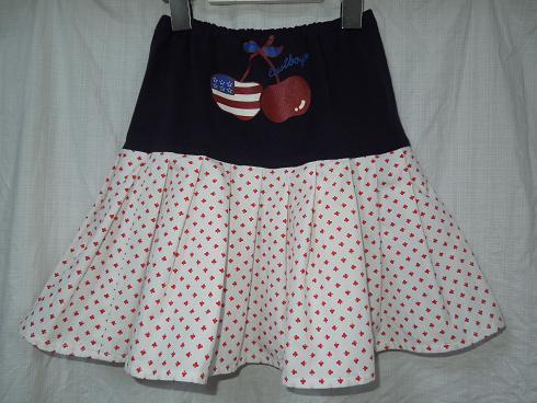 ★リメイク、大好き!EastboyのTシャツとソウルで買ったシャツで、アメリカンな2段スカート(再アップ)_b0135838_16251019.jpg