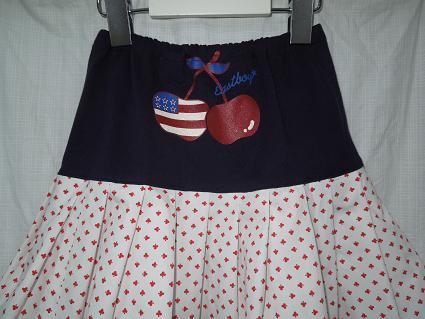 ★リメイク、大好き!EastboyのTシャツとソウルで買ったシャツで、アメリカンな2段スカート(再アップ)_b0135838_16252415.jpg