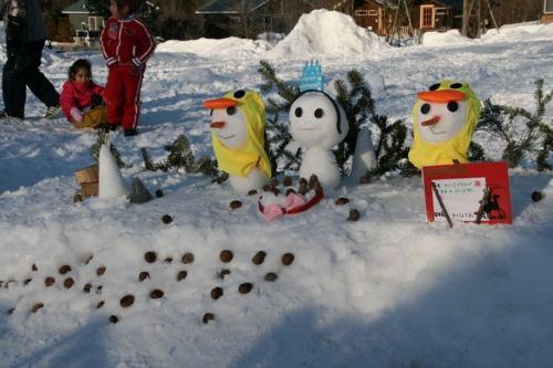 今年最後の雪だるまコンテスト_b0174425_13503297.jpg