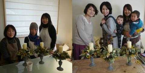 フジモクオーナー会「春のキャンドルアレンジ」by ombak_c0160488_22473742.jpg