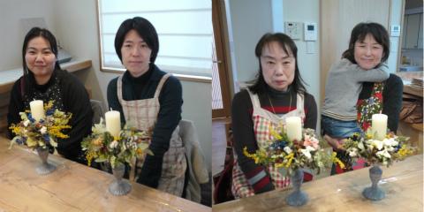 フジモクオーナー会「春のキャンドルアレンジ」by ombak_c0160488_22475318.jpg