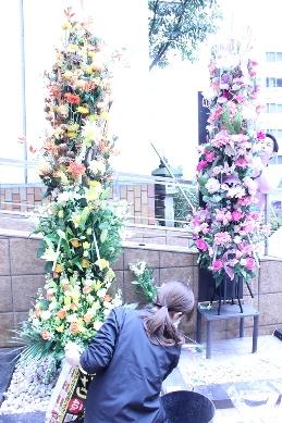 イベント装花(冬の学園祭)_d0125644_1243148.jpg