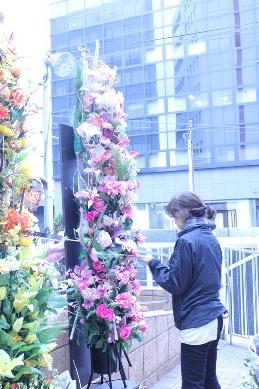 イベント装花(冬の学園祭)_d0125644_12441120.jpg