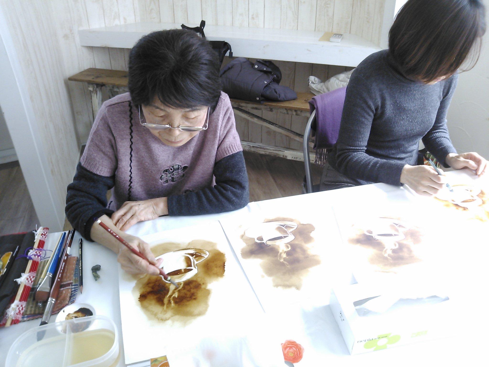 教室でのコーヒー画_f0176370_19223639.jpg