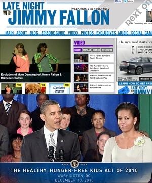 米大統領夫人、深夜番組で「ママ・ダンスの進化」を披露?!_b0007805_1073933.jpg