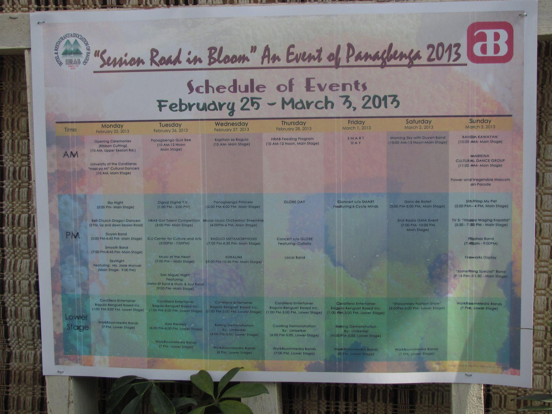 バギオ・フラワーフェスティバル 3月3日まで --- Session Road in Bloom_a0109542_11422530.jpg