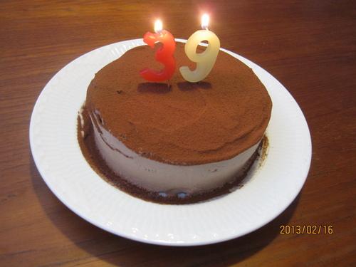 チョコレートケーキでお祝い♪_f0231042_16174064.jpg