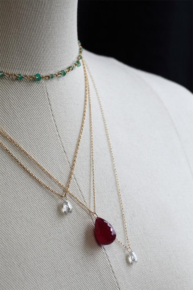 エメラルドとブリオレットカット☆ダイアモンド・ルビー♥_a0135756_19483599.jpg