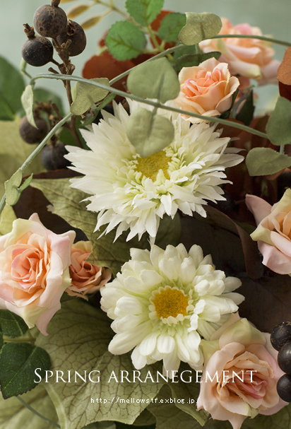 spring arrangement ふたつ。_d0124248_16121272.jpg