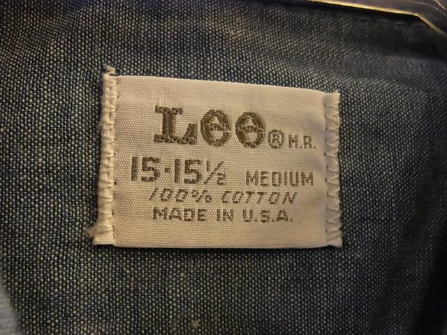 3/2(土)入荷!デッドストック All cotton Lee シャンブレーシャツ!_c0144020_13363886.jpg